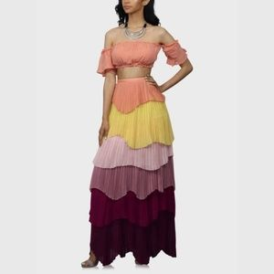 Ruffle Skirt Set Multi